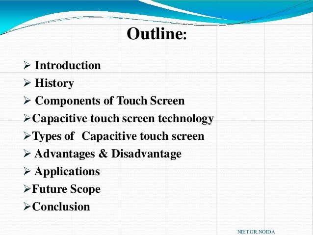 Capacitive   touchscreen  physic project  touch screen Slide 2