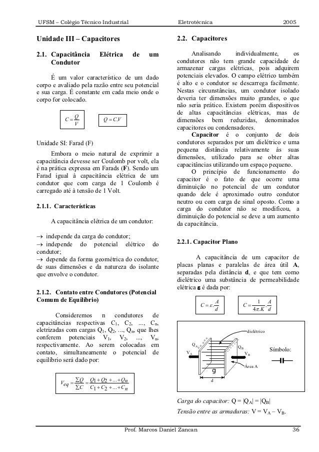 UFSM – Colégio Técnico Industrial                        Eletrotécnica                                         2005Unidade...