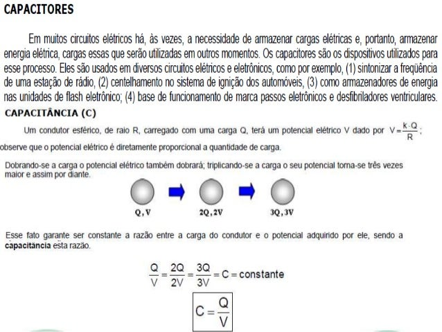 Capacitores 3° ANO