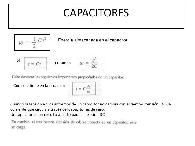 Capacitores Inductores