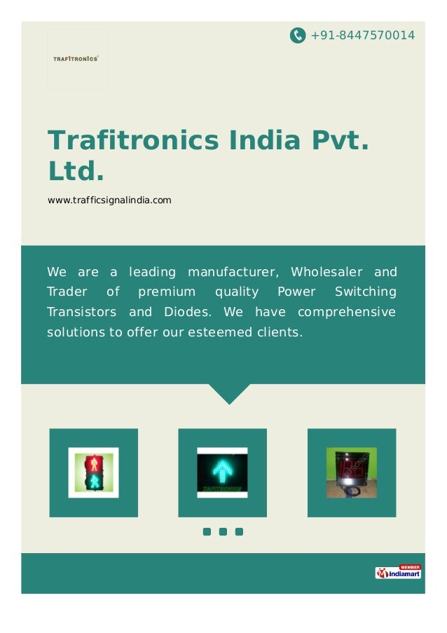 +91-8447570014 Trafitronics India Pvt. Ltd. www.trafficsignalindia.com We are a leading manufacturer, Wholesaler and Trade...
