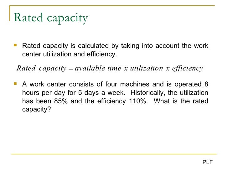 capacity management in operations management pdf