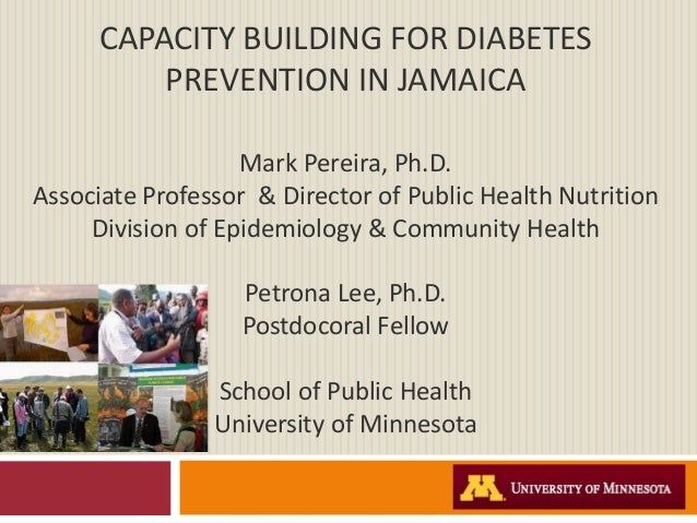CAPACITY BUILDING FOR DIABETES          PREVENTION IN JAMAICA                   Mark Pereira, Ph.D.Associate Professor & D...