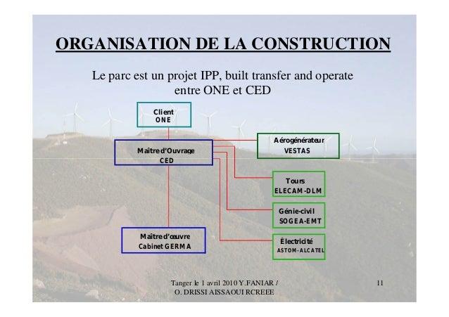 Capacity building 2010 day 4 compagnie eolienne du detroit fr - Difference entre maitre d oeuvre et maitre d ouvrage ...