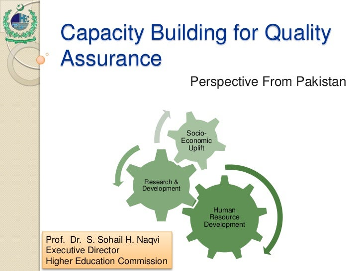 Capacity Building for Quality   Assurance                                      Perspective From Pakistan                  ...