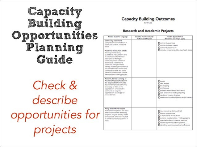 discuss the impact of capacity planning Organizational stakeholders, including board members, management and   program delivery and impact human resources and networking and strategic.