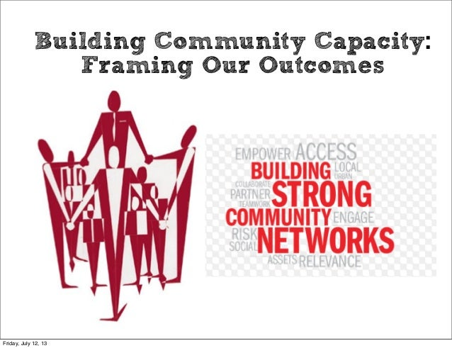 Building Community Capacity: Framing Our Outcomes Friday, July 12, 13