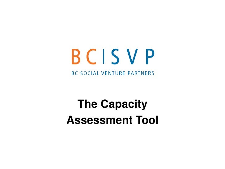 The Capacity Assessment Tool
