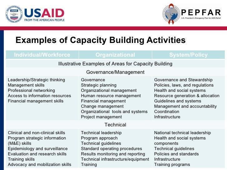 capacity building plan template capacity building u nder pepfar ii final cobranded