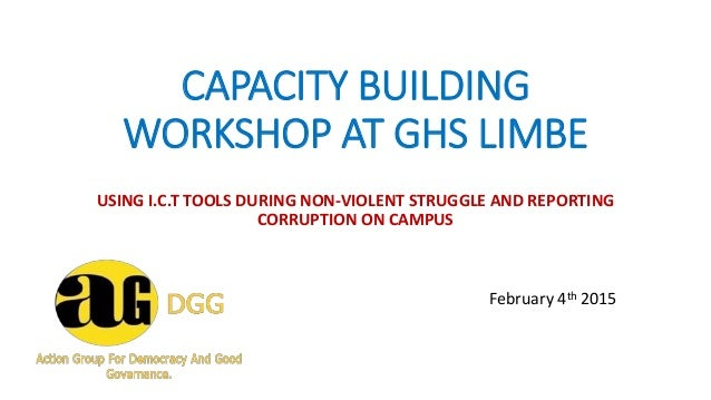 CAPACITY BUILDING WORKSHOP AT GHS LIMBE USING I.C.T TOOLS DURING NON-VIOLENT STRUGGLE AND REPORTING CORRUPTION ON CAMPUS F...