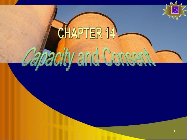 Capacity and Consent CHAPTER 14
