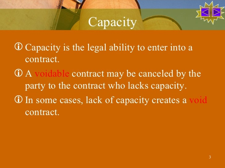 capacity to contract Drugs, this is nevertheless a void contract capacity of the parties in order to be bound to a contract, the parties must be  guide to texas contract law.