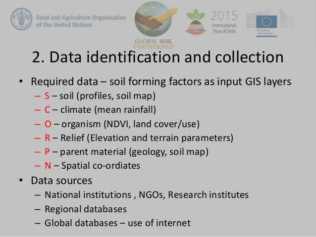 Review of digital soil mapping steps for Soil forming factors