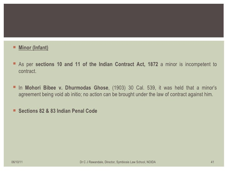 mohori bibee v dhurmodas ghose Documents similar to mohori bibee &amp anothr v dharmodas ghose contract assignment- incapacity to contract uploaded by aditf14 consideration in the indian .