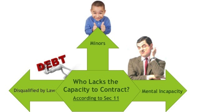 minors capacity to contract Minors suffer from mental deficiency they have no capacity to contract  according to indian law those persons who have not completed the age of 18  years are.