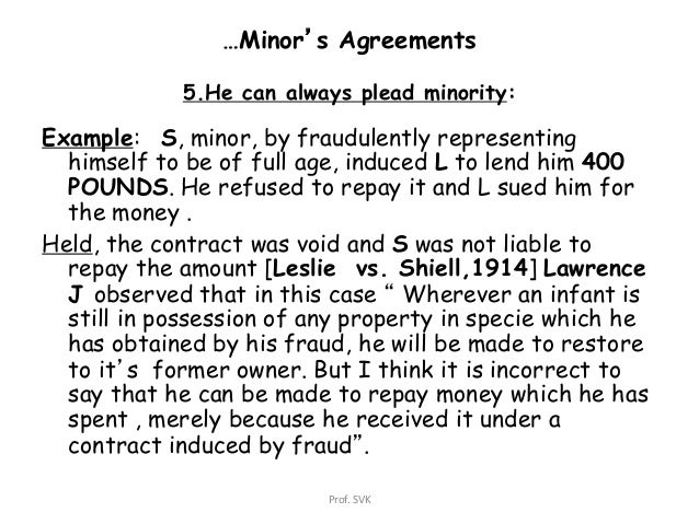 minors and contract law