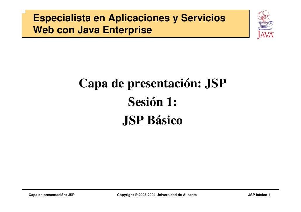 Capa de presentacion jsp