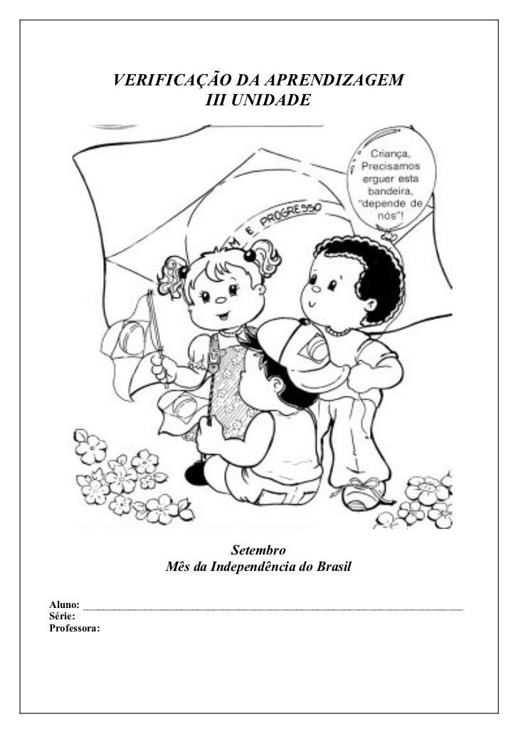 VERIFICAÇÃO DA APRENDIZAGEM                     III UNIDADE                                Setembro                      M...