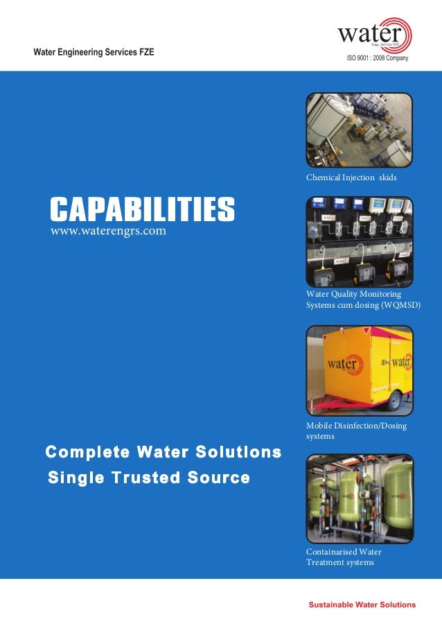 Chemical Injection skids Water Quality Monitoring Systems cum dosing (WQMSD) Mobile Disinfection/Dosing systems Containari...