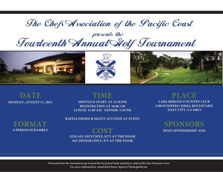The Chefs Association of the Pacific Coast                                                           presents the    Fourt...