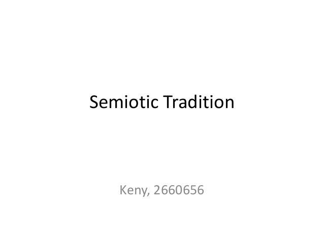 Semiotic Tradition Keny, 2660656