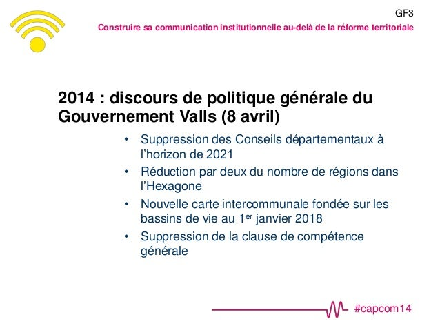 #capcom14 2014 : discours de politique générale du Gouvernement Valls (8 avril) • Suppression des Conseils départementaux ...