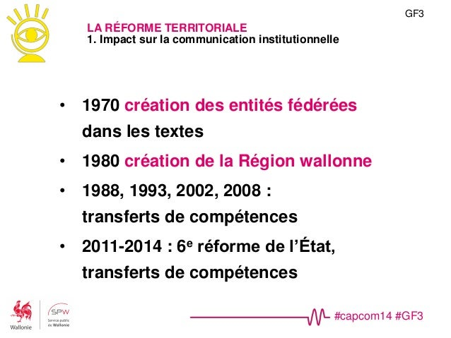 #capcom14 #GF3 Fusion MET-MRW NOM(s) Ministère de l'Équipement et des Transports Ministère de la Région wallonne >> Servic...