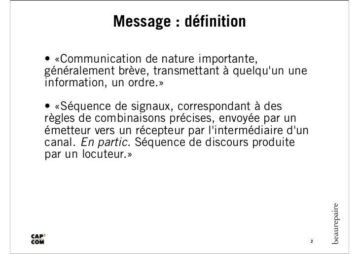 Cap com2011 message crédible-de fouchécour Slide 2