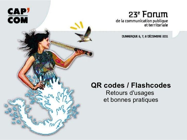 QR codes / Flashcodes Retours d'usages  et bonnes pratiques