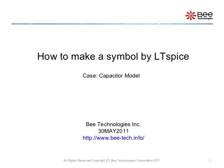 How To Make A Symbol Of Capacitor By Ltspice
