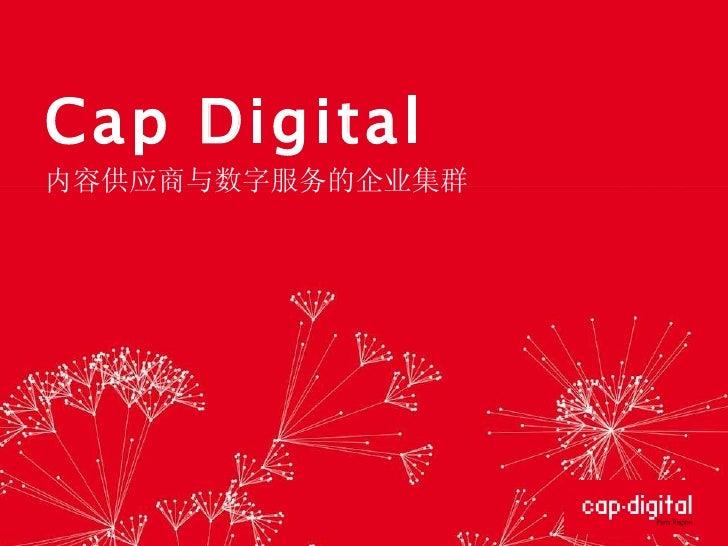 Cap Digital 内容供应商与数字服务的企业集群