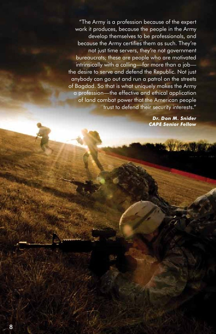 the army as a profession of Adrp 1, the army profession, augments adp 1, the army this adrp defines and describes the army profession and the army ethic.