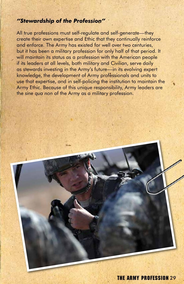 army as a profession of arms The us army campaign issues in todays world are growing more relevant by the day as a result it is increasingly important for the us army to launched the army white paper the profession of arms.