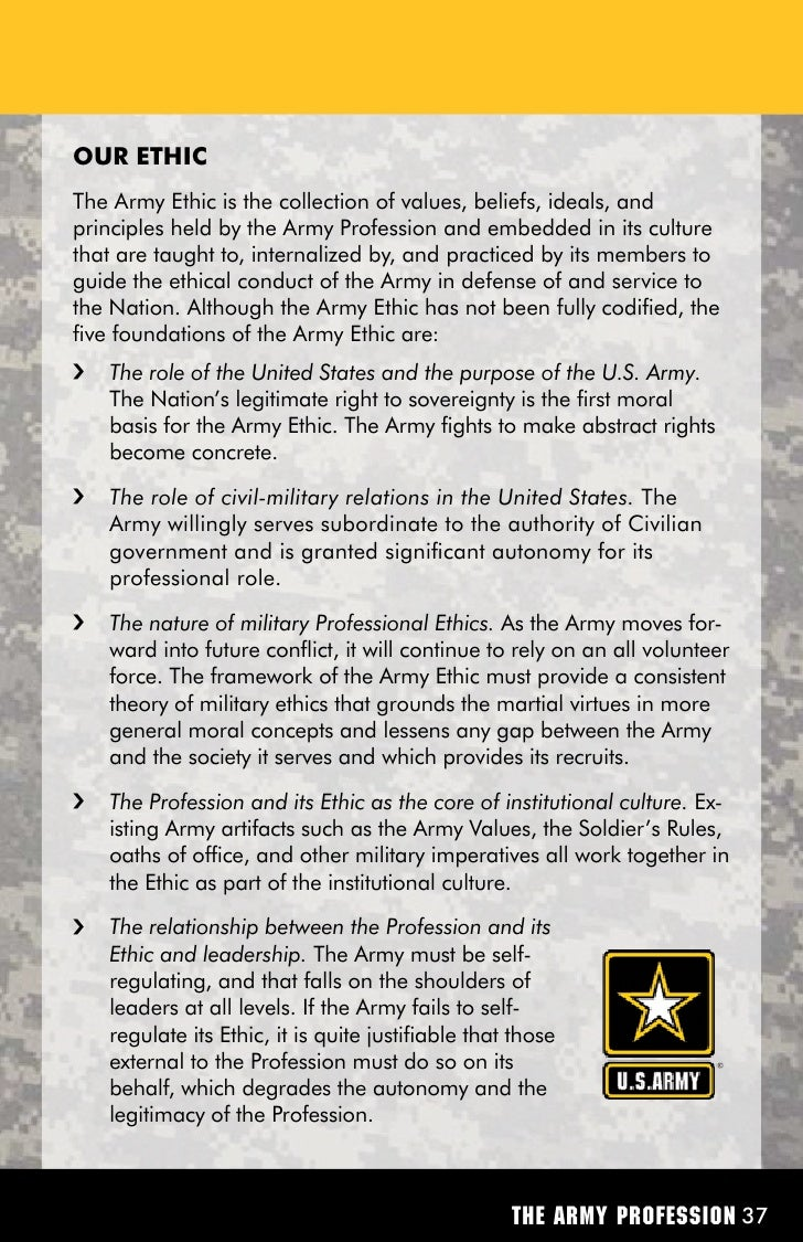 military essays on professionalism Free essay: military professionalism by spc murray professionals in the united  states army stand apart from others engaged in particular.