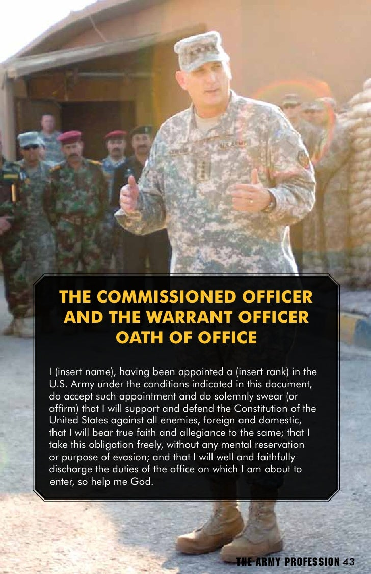 the army as a profession Untruthfulness is surprisingly common in the us military even though members of the profession are loath to admit it further, much of the deception and dishonesty that occurs in the profession of arms is actually encouraged and sanctioned by the military institution the end result is a.