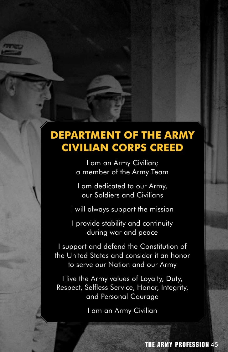 the profession of arms essay The united states army as a profession of arms essay example - the united states army, in its current state, is a profession of arms in order to be considered a profession, the organization must have an ethical code rooted in values, strong trust with its clients, and be comprised of experts within the trade.