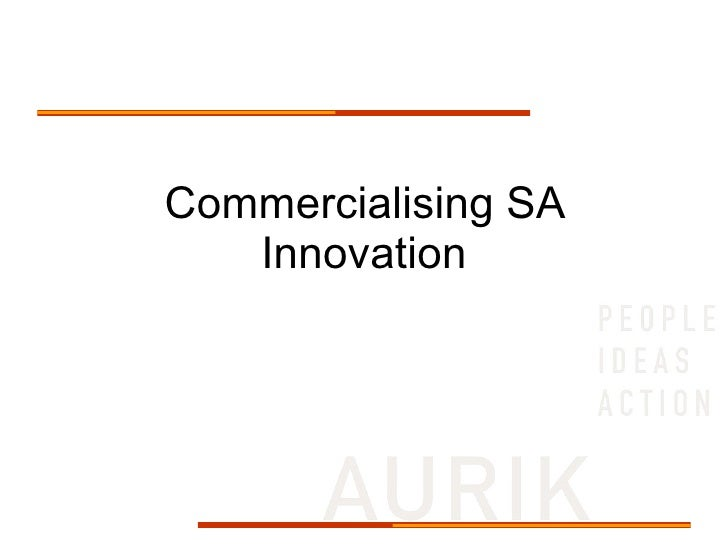 Commercialising SA Innovation