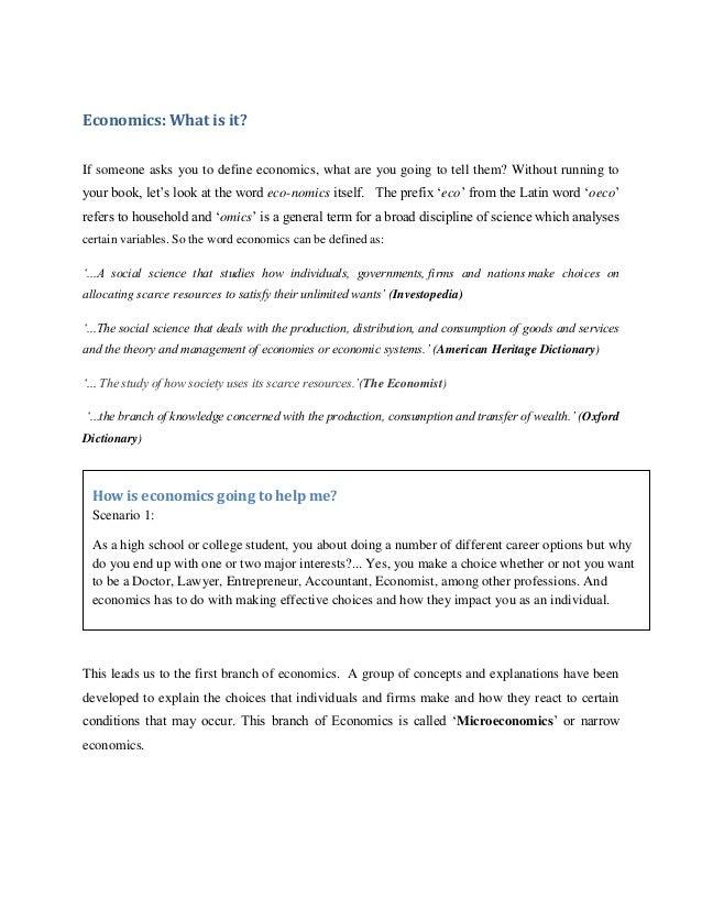 explain choice in economics