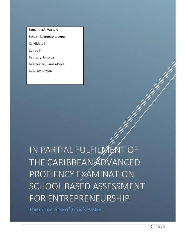 entrepreneurship syllabus for cape