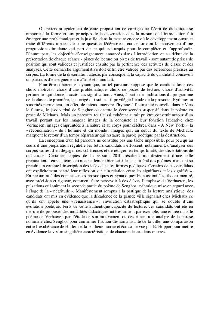 Epreuve de didactique : Agrégation interne de Lettres Modernes