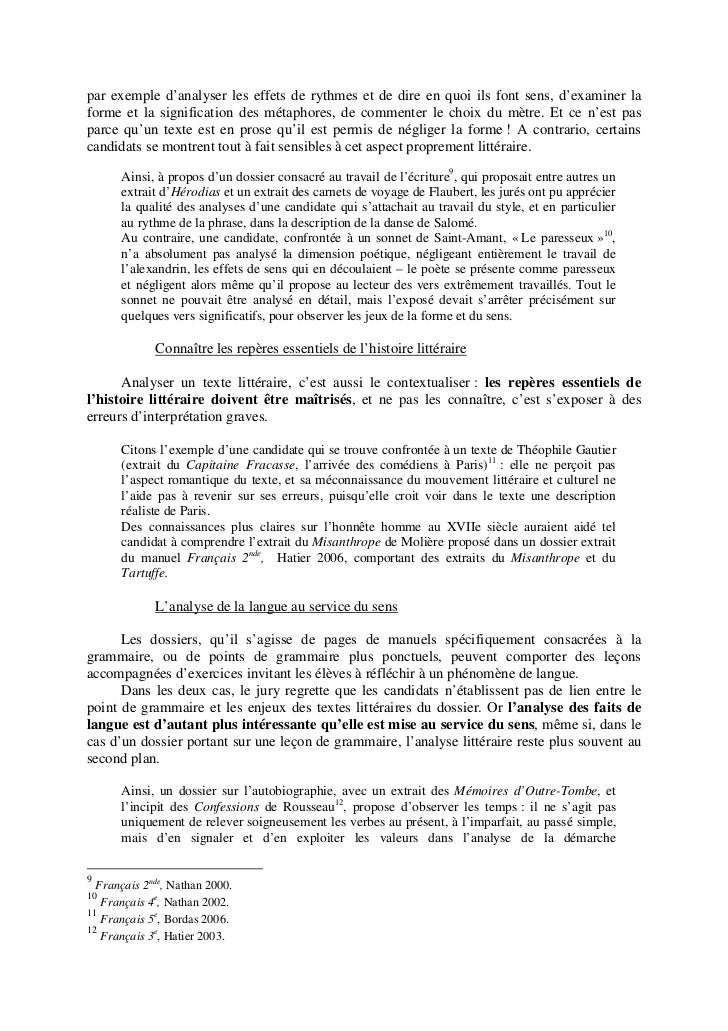 Rapport Capes interne 2010