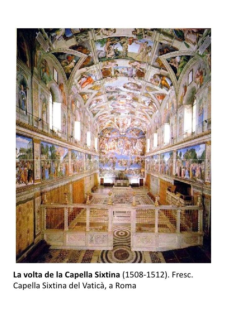 La volta de la Capella Sixtina (1508-1512). Fresc.Capella Sixtina del Vaticà, a Roma