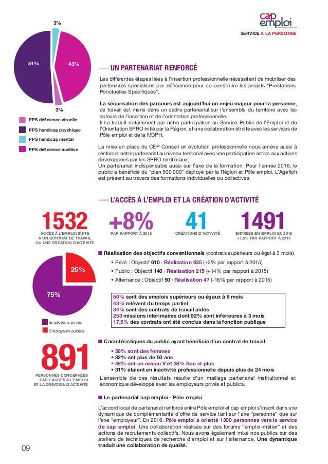 rapport d u0026 39 activit u00e9 avie 2016   cap emploi