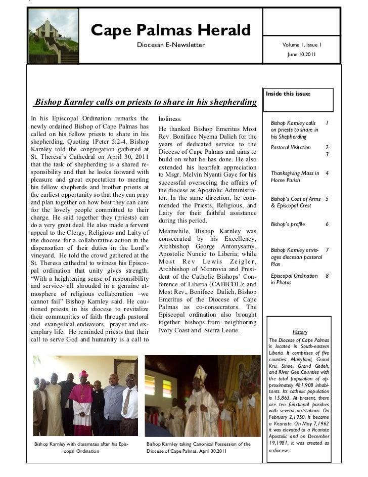 1                               Cape Palmas Herald                                                     Diocesan E-Newslett...