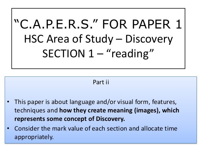 Part ii • This paper is about language and/or visual form, features, techniques and how they create meaning (images), whic...