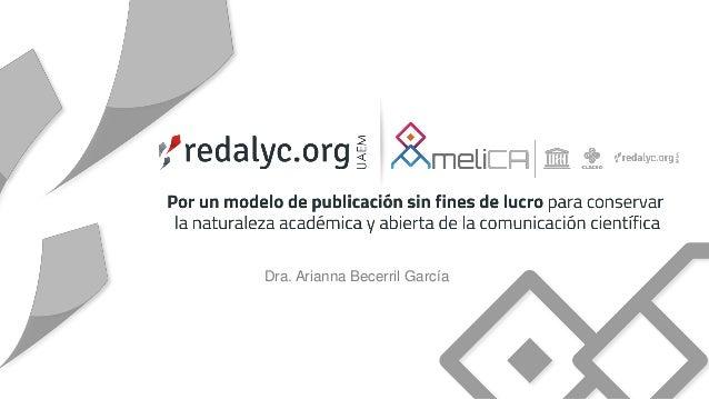 Dra. Arianna Becerril García