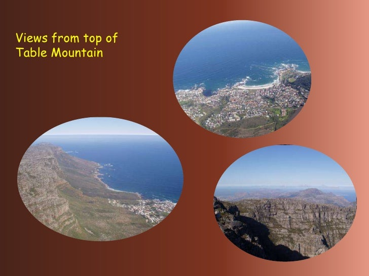 Cape Town from Table Mountain and Loins Head