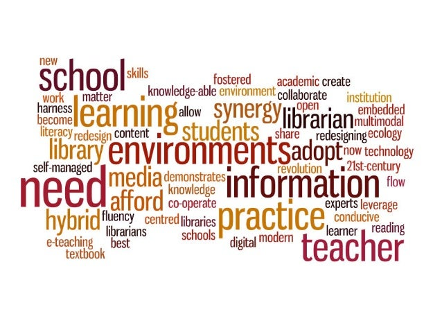 School libraries are vital, showcasing and empowering the best in good reading and research for immersion in knowledge. cc...