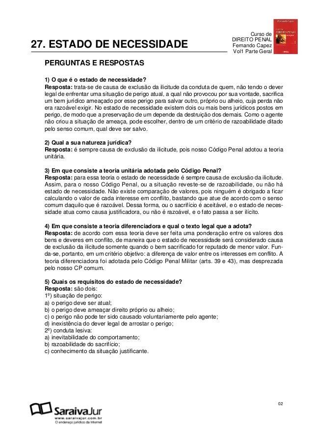 Curso de                                                                              DIREITO PENAL27. ESTADO DE NECESSIDA...