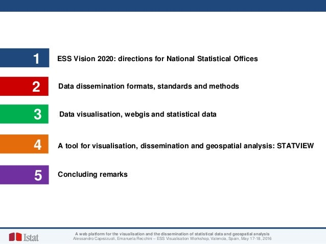 STATVIEW: a web platform for visualisation and dissemination of statistical data and geospatial analysis Slide 2